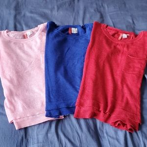 H&M Divided Light Weight Top Bundle (3) Size XS